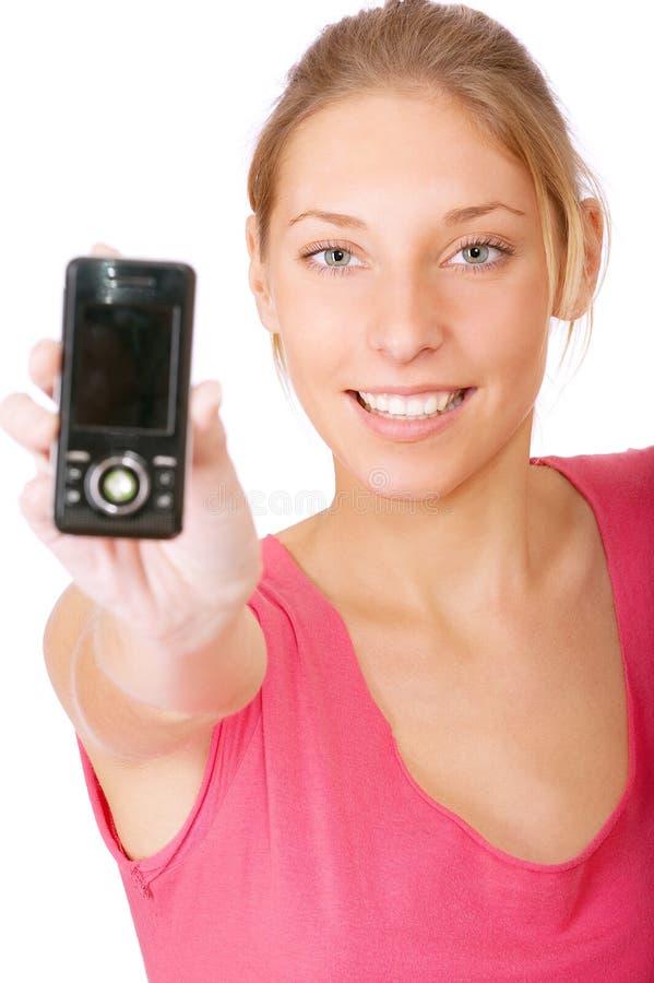 Download Dziewczyny Telefon Komórkowy Potomstwa Zdjęcie Stock - Obraz złożonej z plotka, komórkowy: 13334414