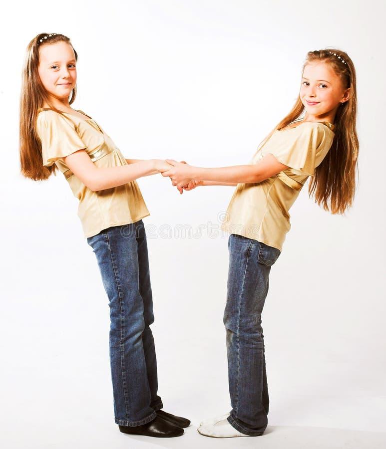 dziewczyny trochę dwa obrazy stock