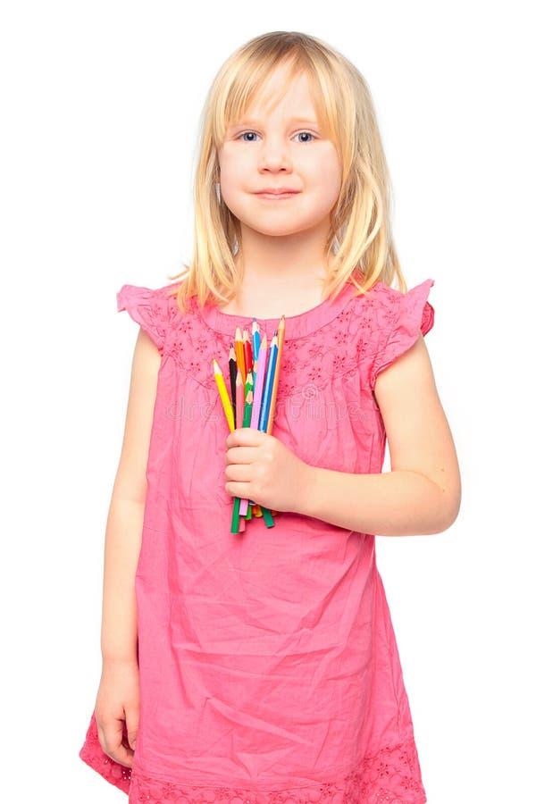 dziewczyny trochę ołówkowy ja target561_0_ fotografia royalty free