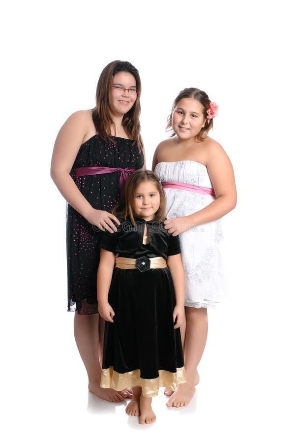 dziewczyny trzy zdjęcie stock