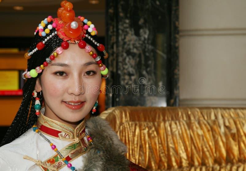 dziewczyny tybetańskiej zdjęcie royalty free