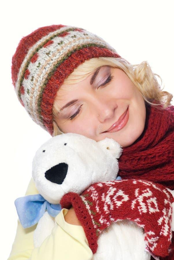 dziewczyny ubraniowa zimy. zdjęcia stock