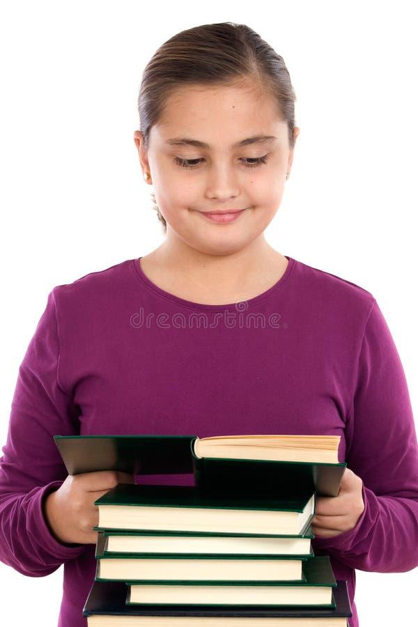 dziewczyny uroczy książkowy czytanie zdjęcia stock