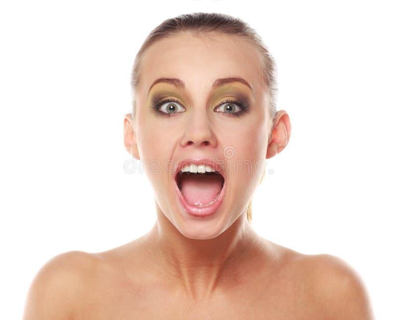 dziewczyny usta otwarte zaskoczona zdjęcie royalty free