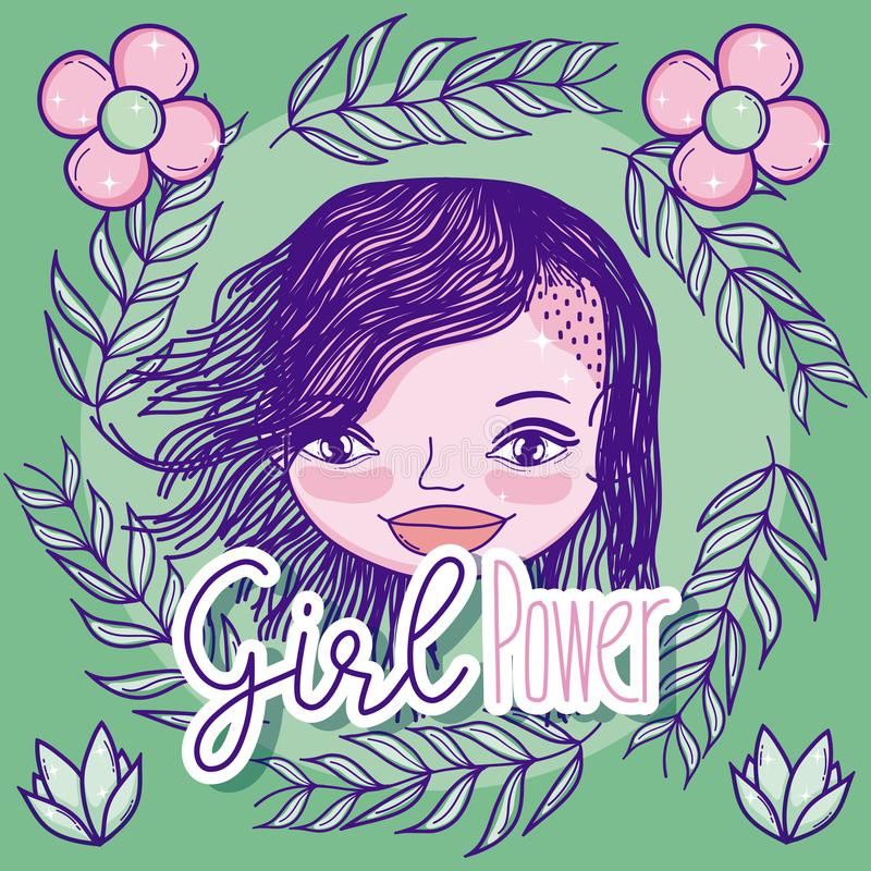 Dziewczyny władzy kreskówka royalty ilustracja