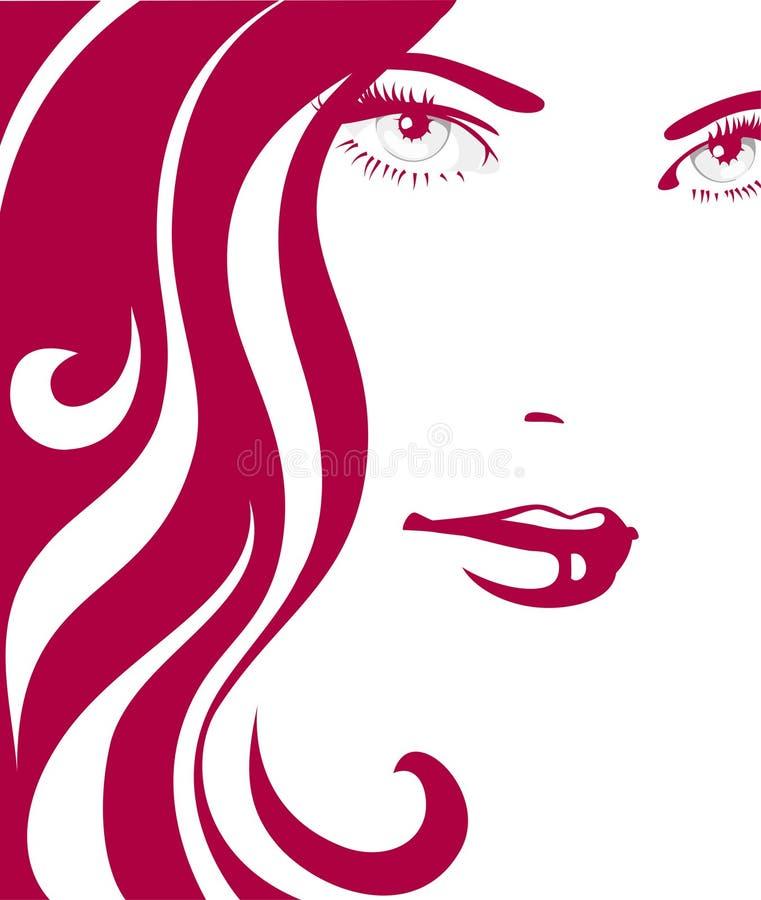 dziewczyny włosy czerwień royalty ilustracja