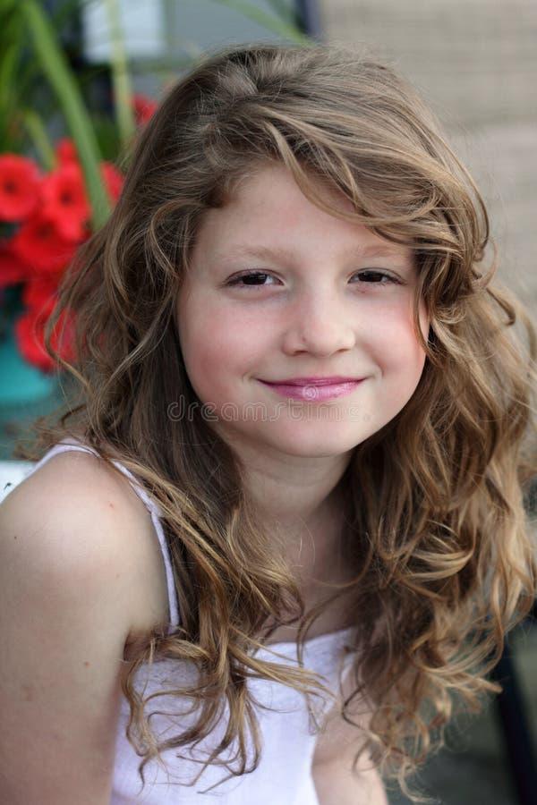 dziewczyny włosy dłudzy ładni potomstwa fotografia stock
