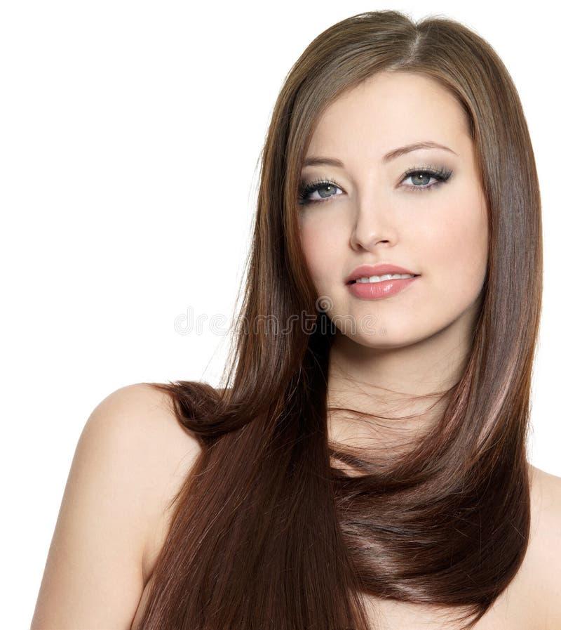 dziewczyny włosy długi portret dosyć seksowny obraz royalty free