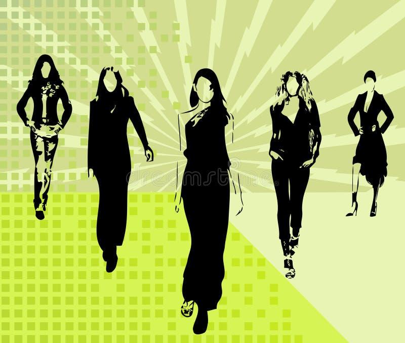 dziewczyny wektorowe mod ilustracja wektor