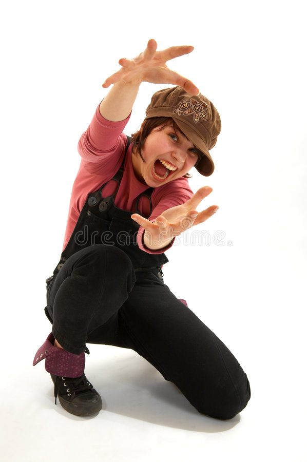 dziewczyny wpr krzyczeć zdjęcie stock