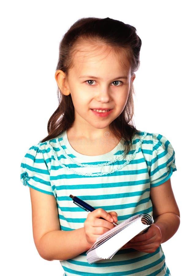 Dziewczyny writing notatki fotografia royalty free