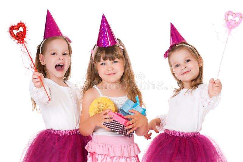 Dziewczyny z prezentami obraz stock