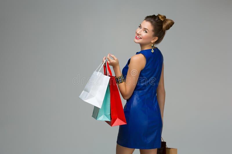 dziewczyny z sally zakupy zdjęcia stock
