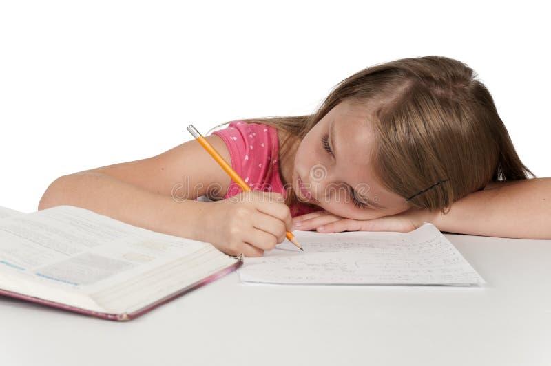 dziewczyny, zadanie domowe obraz stock