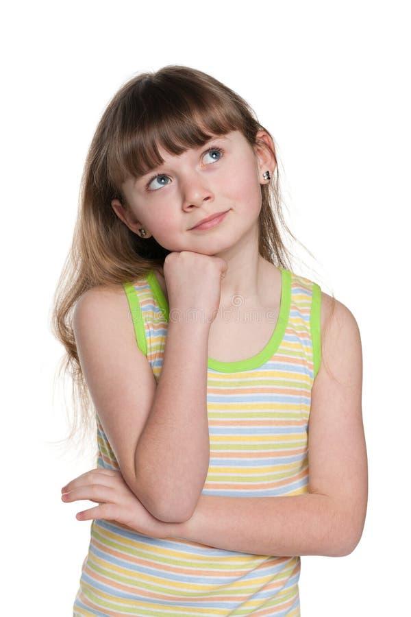 Download Dziewczyny zadumany uroczy obraz stock. Obraz złożonej z odbicie - 41951461