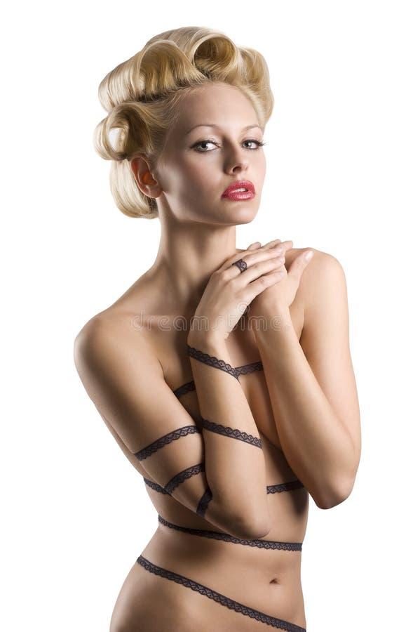 Download Dziewczyny Zmysłowy Koronkowy Zdjęcie Stock - Obraz złożonej z glamorize, femaleness: 13330900