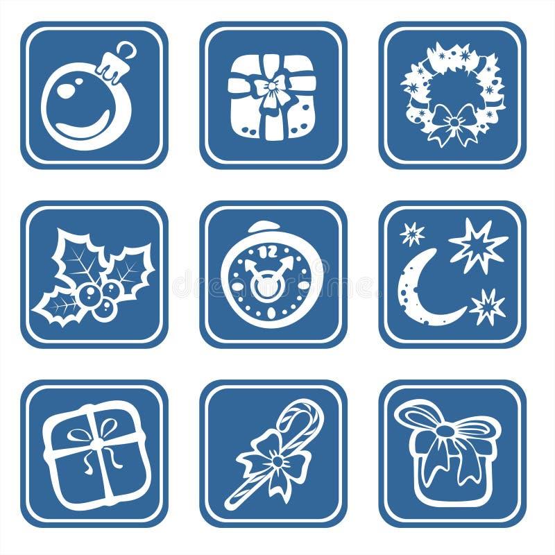 dziewięć Świąt symboli royalty ilustracja