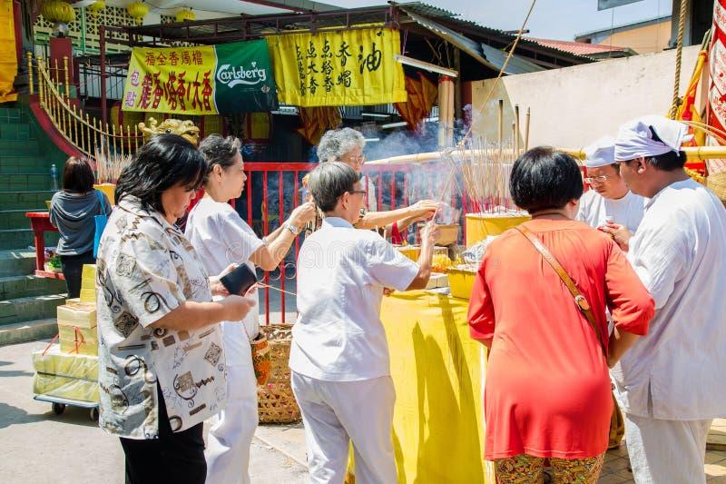 Dziewięć cesarzów bóg festiwal w Ampang fotografia stock