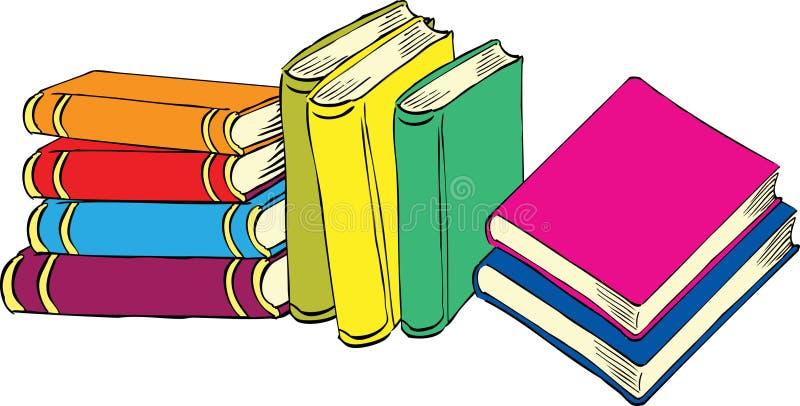Dziewięć książek ilustracja wektor