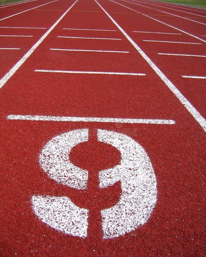 dziewięć numerów oznakowania sportowe powierzchni zdjęcia stock