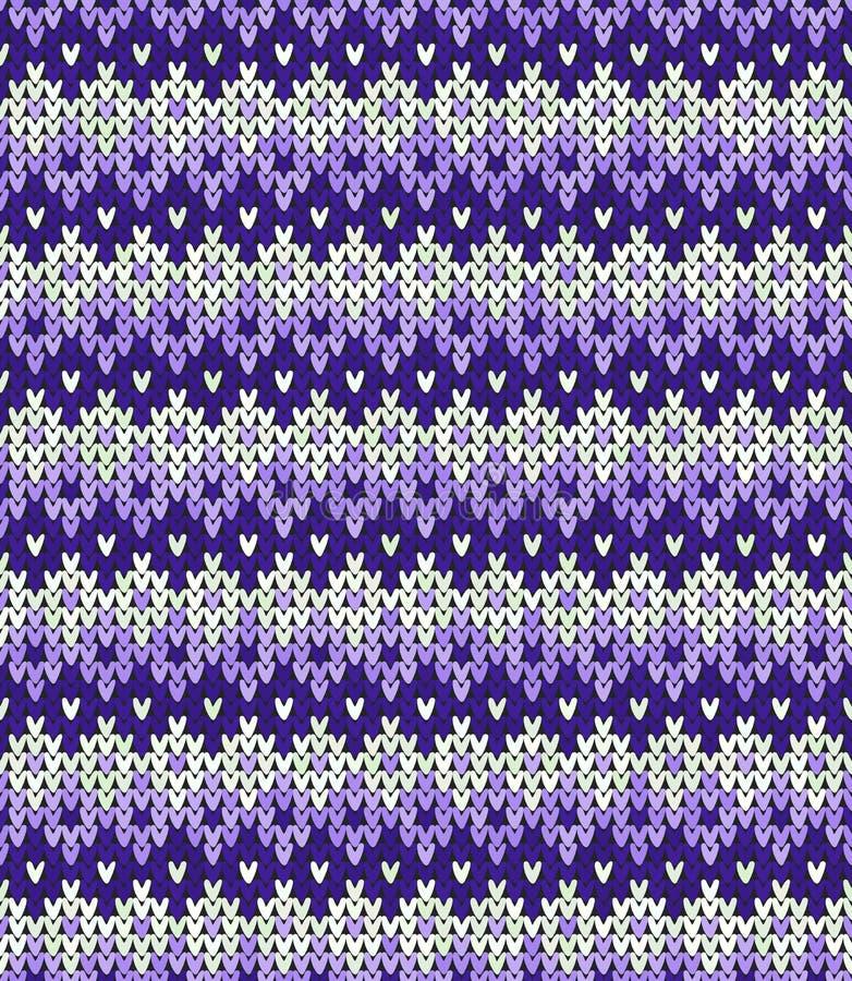 Dziewiarski klasyczny geometryczny wzór Trykotowy realistyczny bezszwowy t?o, tekstura Wektorowy bezszwowy tło dla ilustracji
