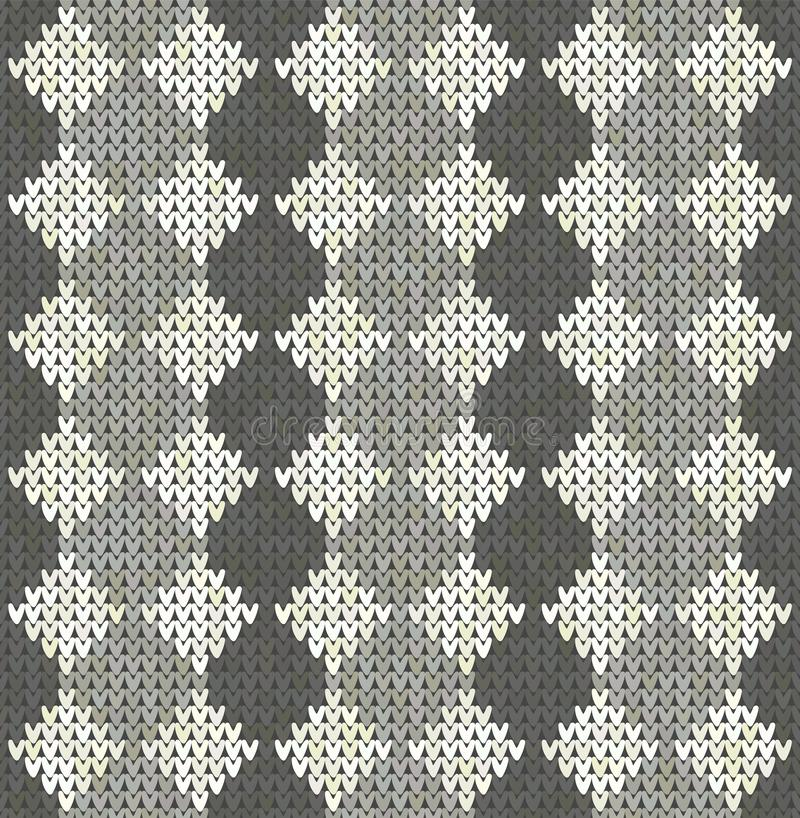 Dziewiarski klasyczny geometryczny wzór Trykotowy realistyczny bezszwowy t?o, tekstura Wektorowy bezszwowy tło dla ilustracja wektor