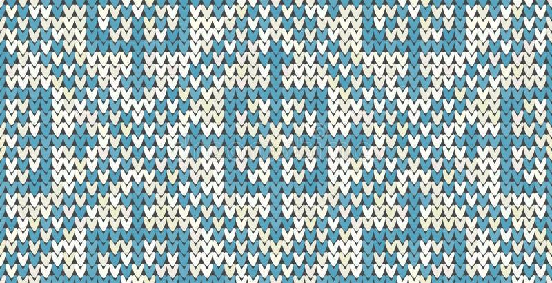 Dziewiarskiego klasycznego rocznika geometryczny wzór Trykotowy realistyczny etniczny bezszwowy tło, tekstura Wektorowy obywatel royalty ilustracja