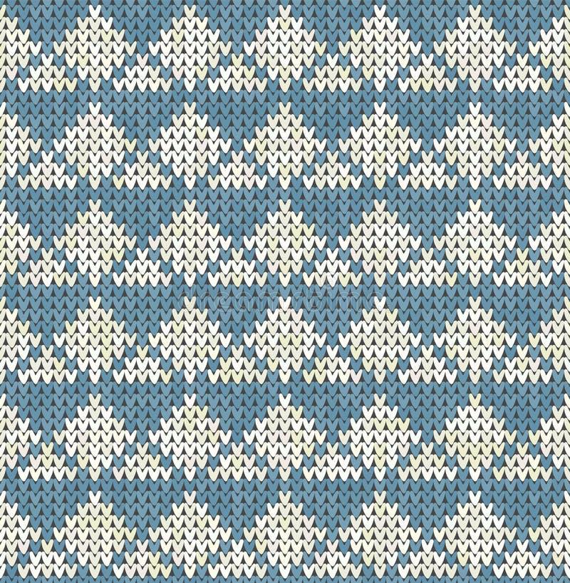 Dziewiarskiego klasycznego rocznika geometryczny wzór Trykotowy realistyczny etniczny bezszwowy tło, tekstura Wektorowy obywatel ilustracji