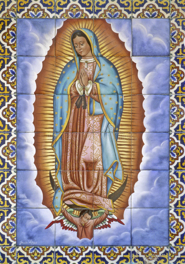 Dziewica Guadalupe obrazy royalty free
