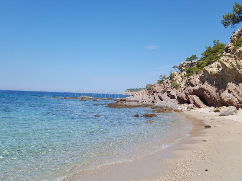 Dziewica plażowy Grecja zdjęcia stock