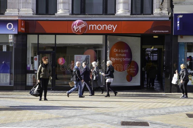 Dziewicza pieniądze banka gałąź w Leeds obraz royalty free