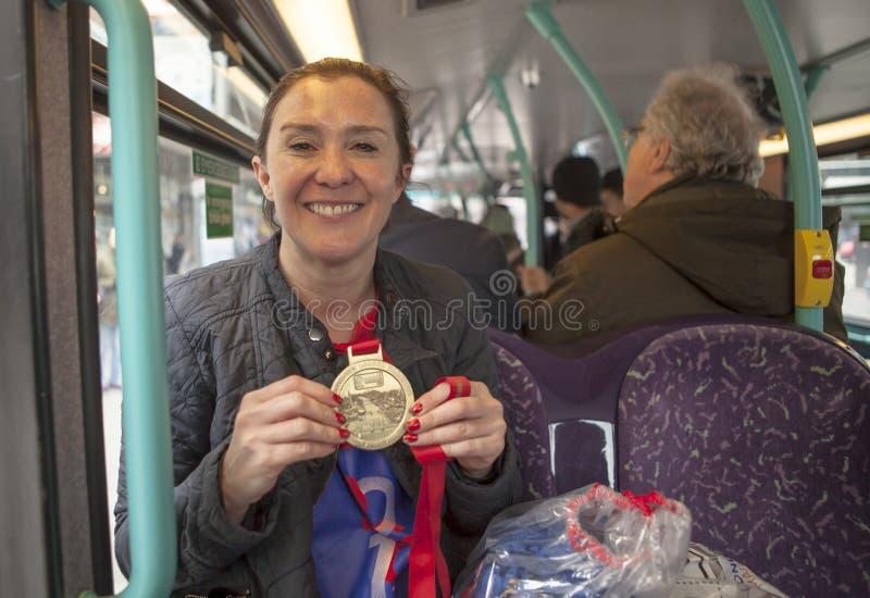 Dziewiczego pieniądze Londyński maraton, 24th 2016 Kwiecień fotografia royalty free