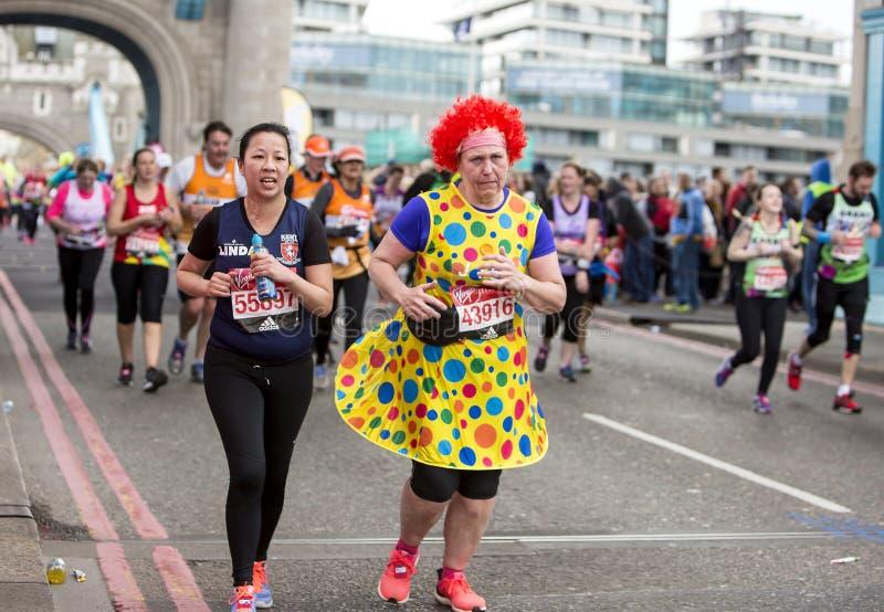 Dziewiczego pieniądze Londyński maraton, 24th 2016 Kwiecień zdjęcia stock