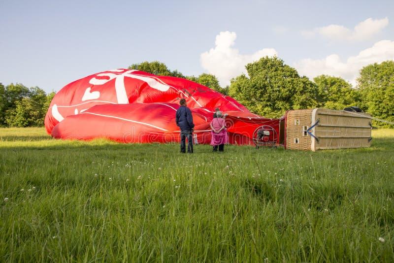Dziewiczy gorące powietrze balon zdjęcia royalty free