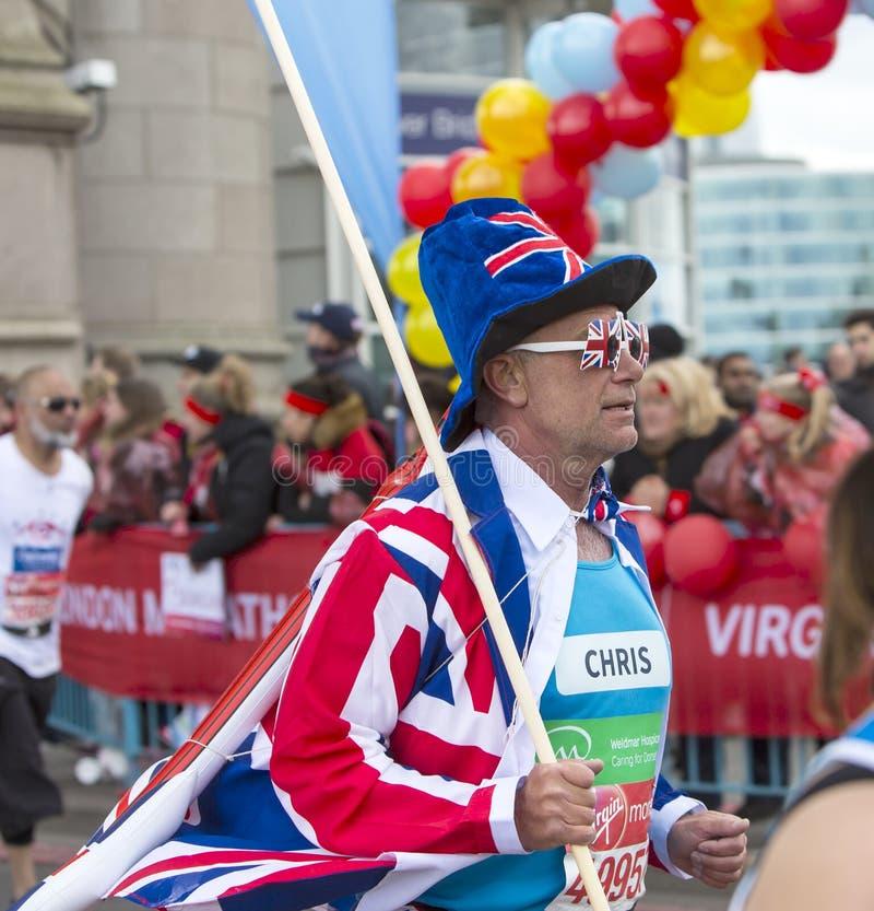 Dziewiczy pieniądze Londyn maraton 24th 2016 Kwiecień fotografia royalty free