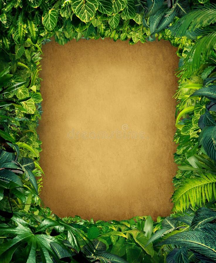 Dzika dżungli rama royalty ilustracja