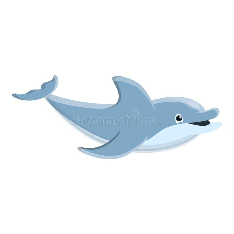 Dzika delfin ikona, kreskówka styl ilustracji