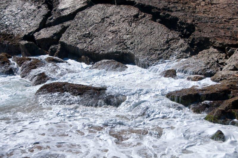 Dzika linia brzegowa Aruba w Karaiby obrazy stock