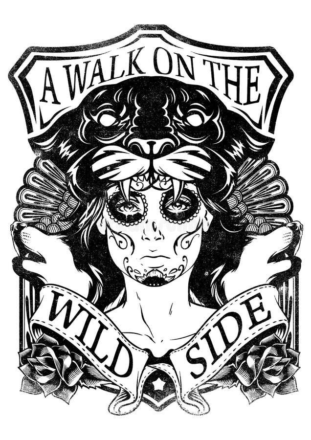Dzika maska ilustracja wektor