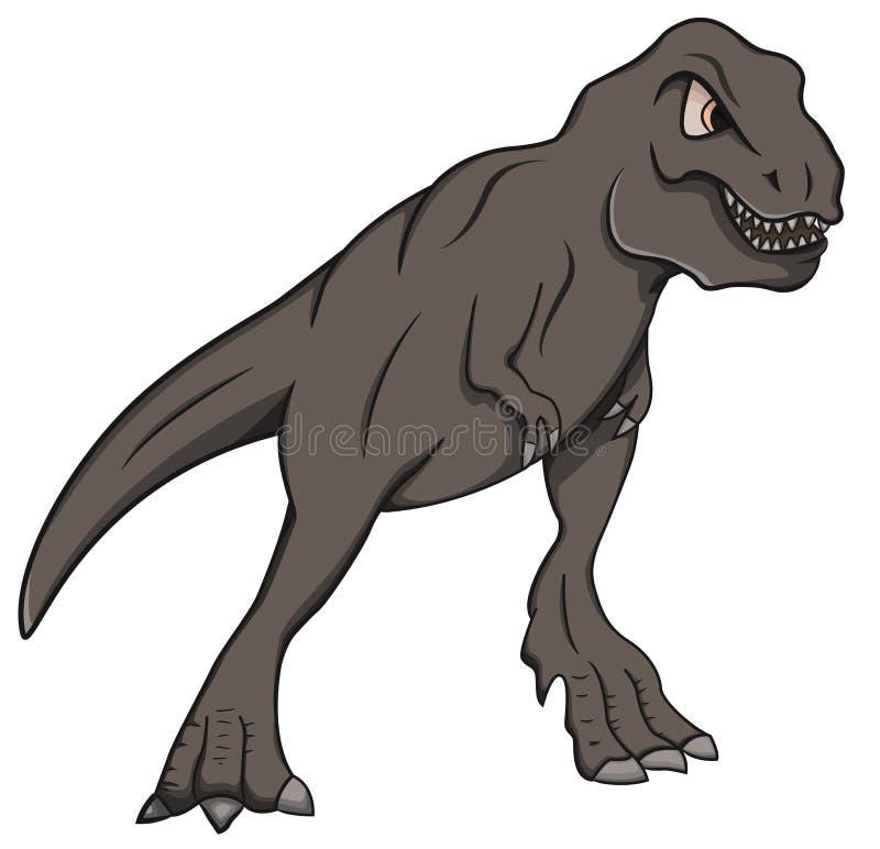 Dzika Tryrannosaurus Rex kreskówka ilustracja wektor
