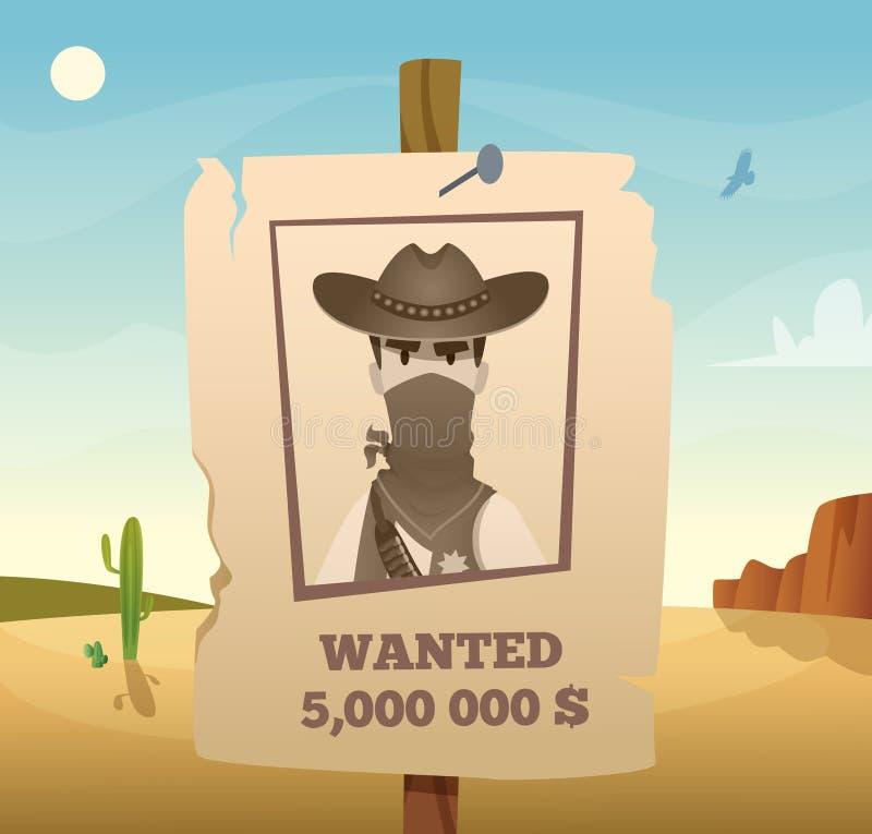Dzika zachód rama Amerykański kowbojski zachodni symbolu lasso strzela końskiego baru wektorowego plakatowego szablon ilustracji