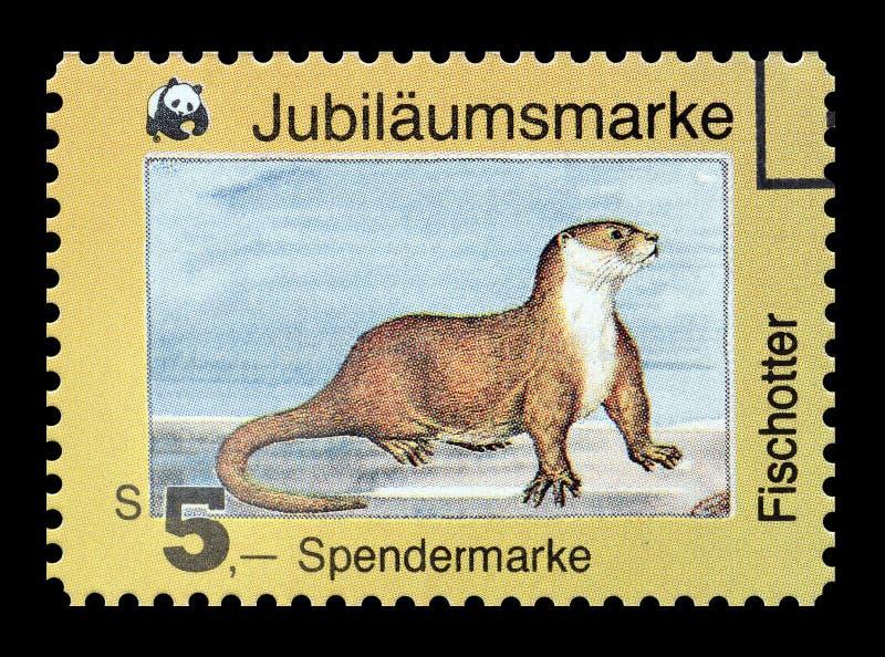 Dziki życie na znaczkach pocztowych obrazy stock