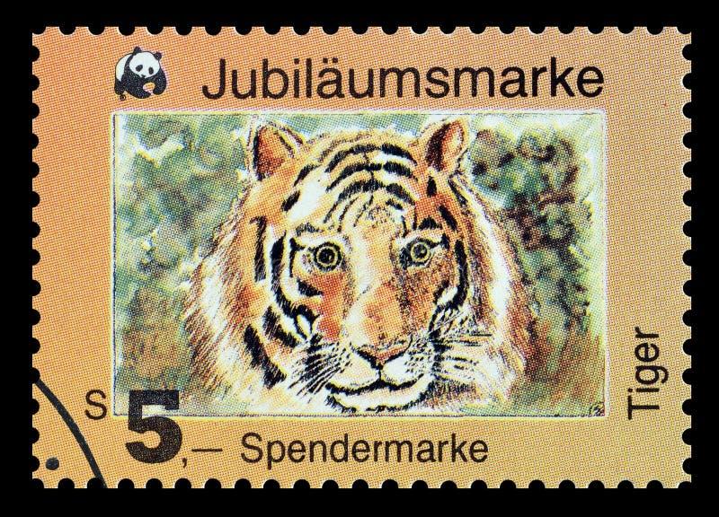 Dziki życie na znaczkach pocztowych fotografia royalty free