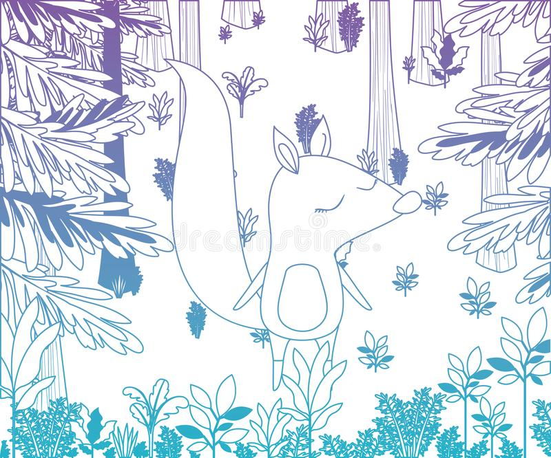 Dziki chipmunk w dżungli scenie ilustracji