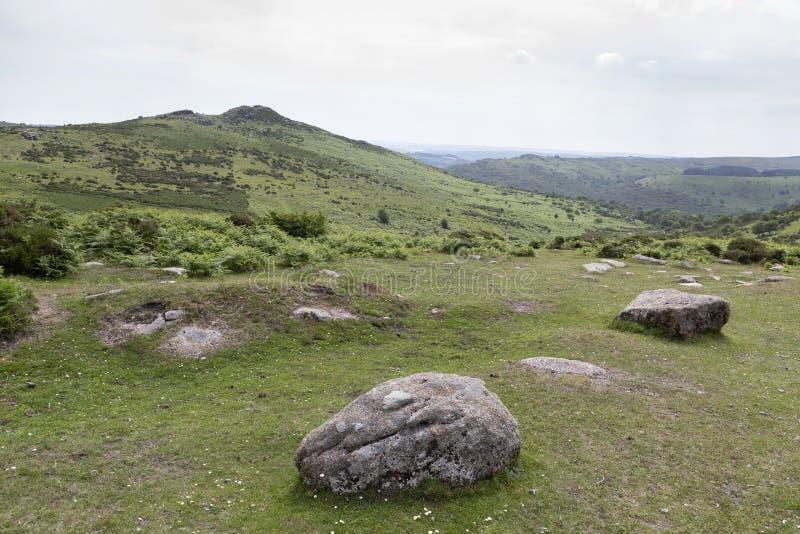 Dziki i niewygładzony Dartmoor, Devon, UK zdjęcie stock