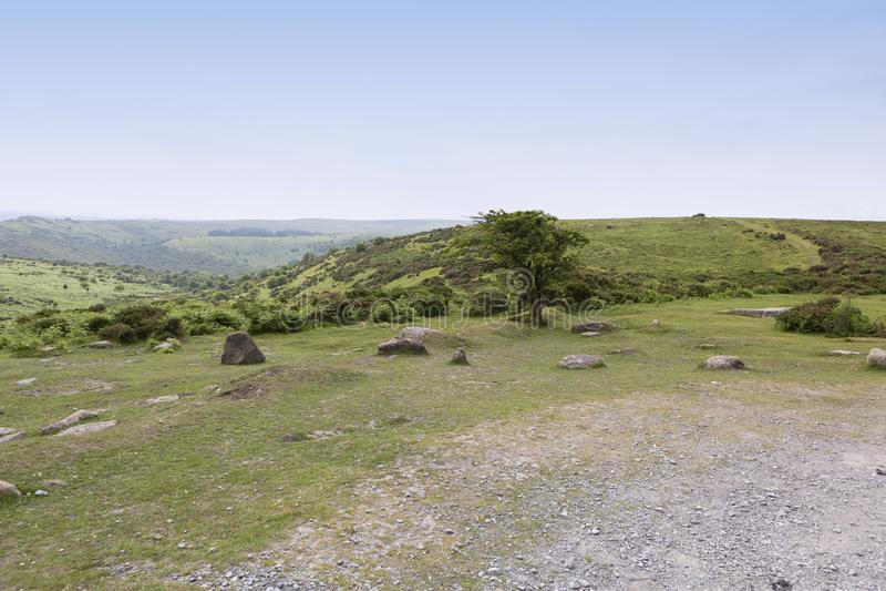 Dziki i niewygładzony Dartmoor, Devon, UK obrazy stock