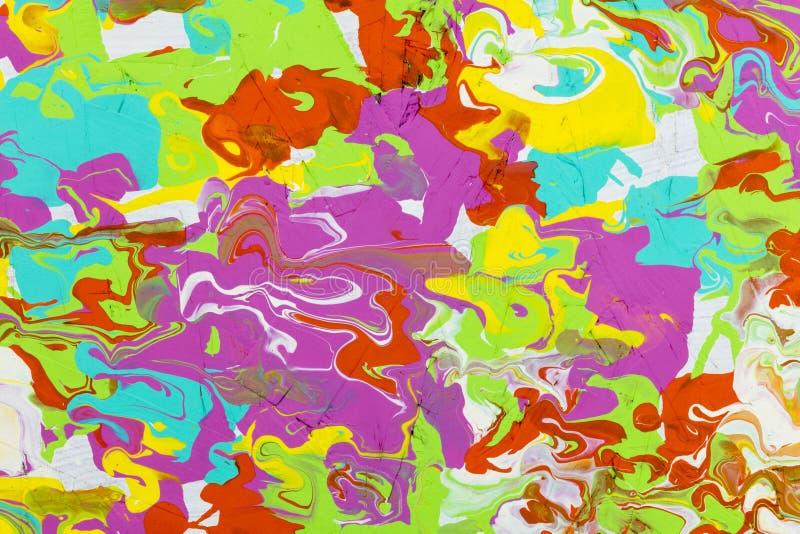 Dziki kolor akrylowej farby tło ilustracji