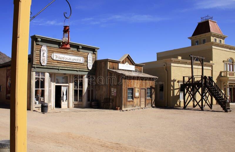 dziki kowbojski stary miasteczko usa na zachód obrazy royalty free
