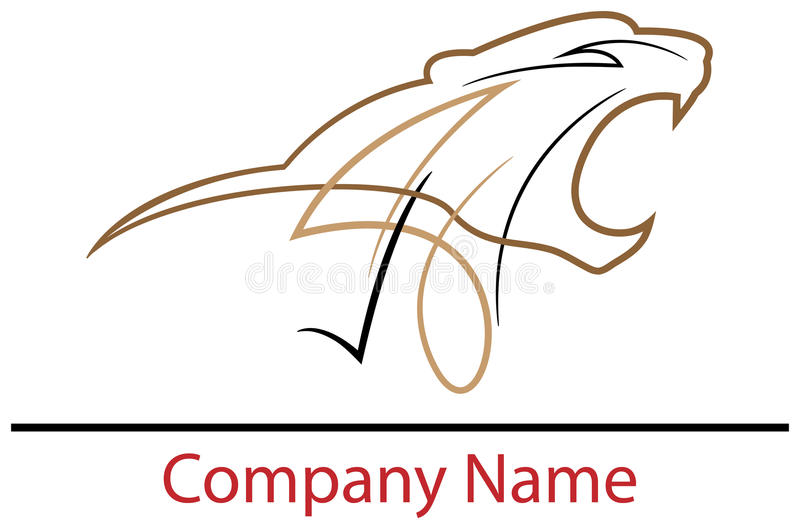 Dziki logo ilustracji