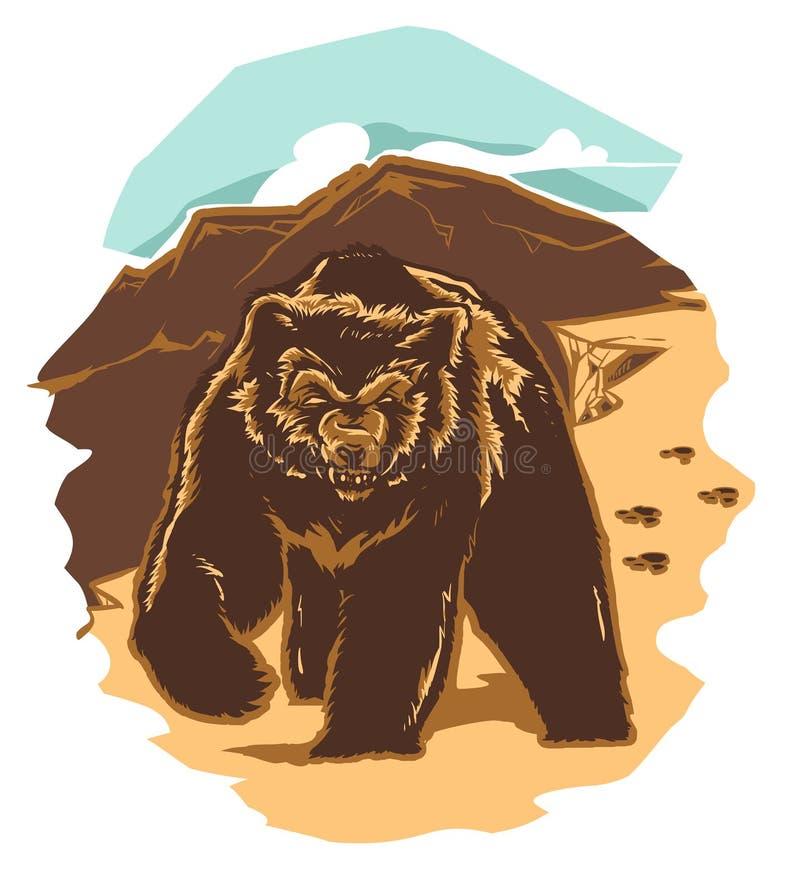 dziki niedźwiedź royalty ilustracja